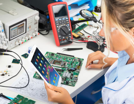Testing and testing in electronic development